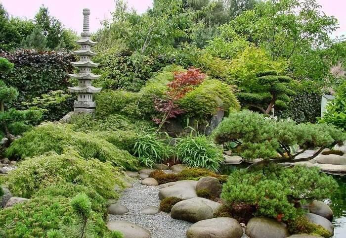Японский ландшафтный дизайн загородного дома